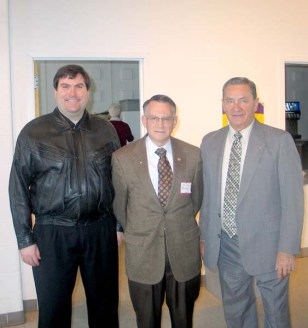 Seminarian Tony Rossi (L), John Rossi, and Ed Koza at New Family Sunday