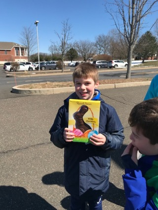 Cole Abercrombie scores a chocolate bunny with a Golden Ticket!