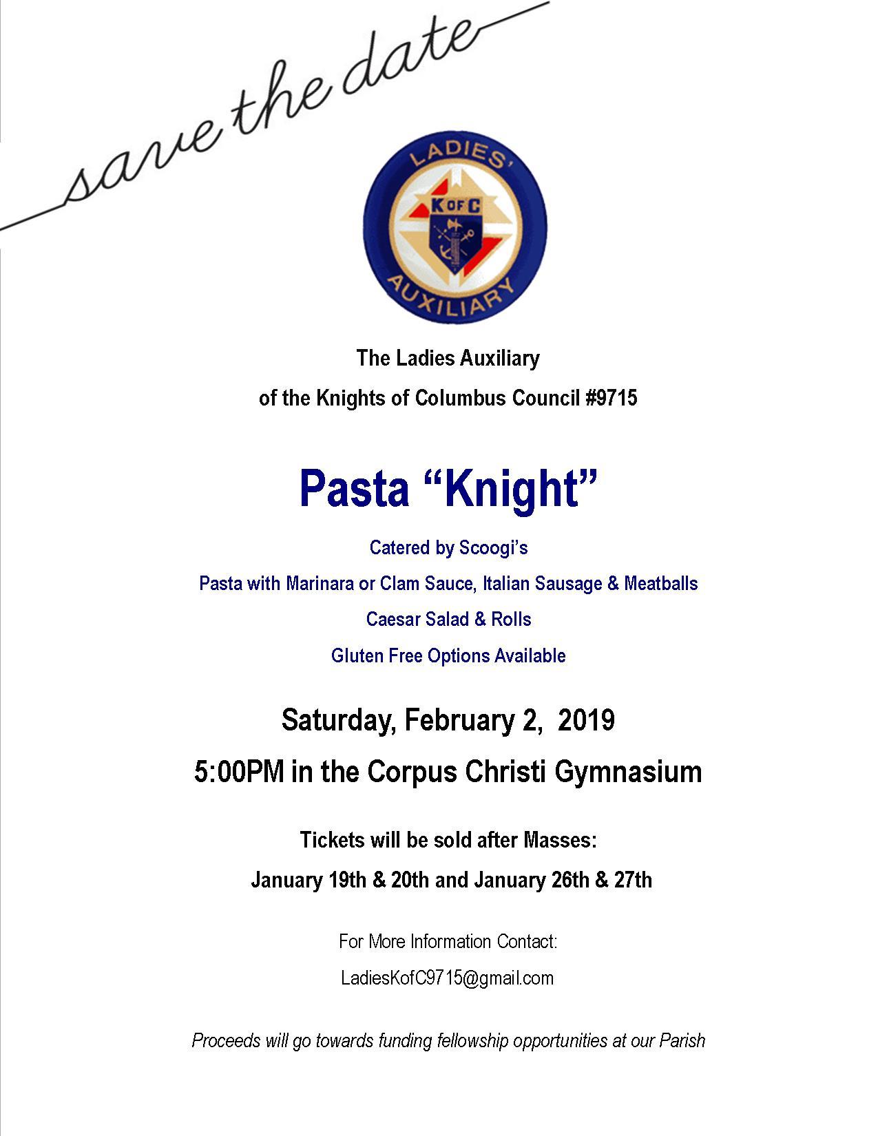 pasta night 2019_save the date